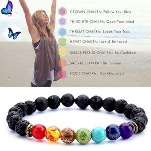 7 Chakra Stones • Beaded Bracelet